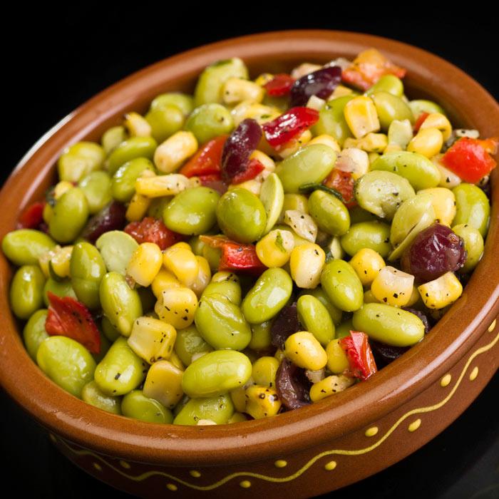 Tomato, Corn, and Edamame Salad
