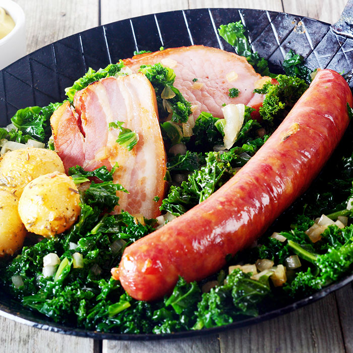 Chicken Sausage with Kale