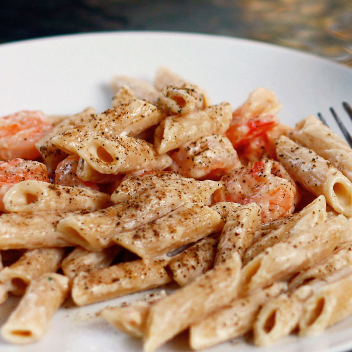 Mediterranean Herb Shrimp with Penne