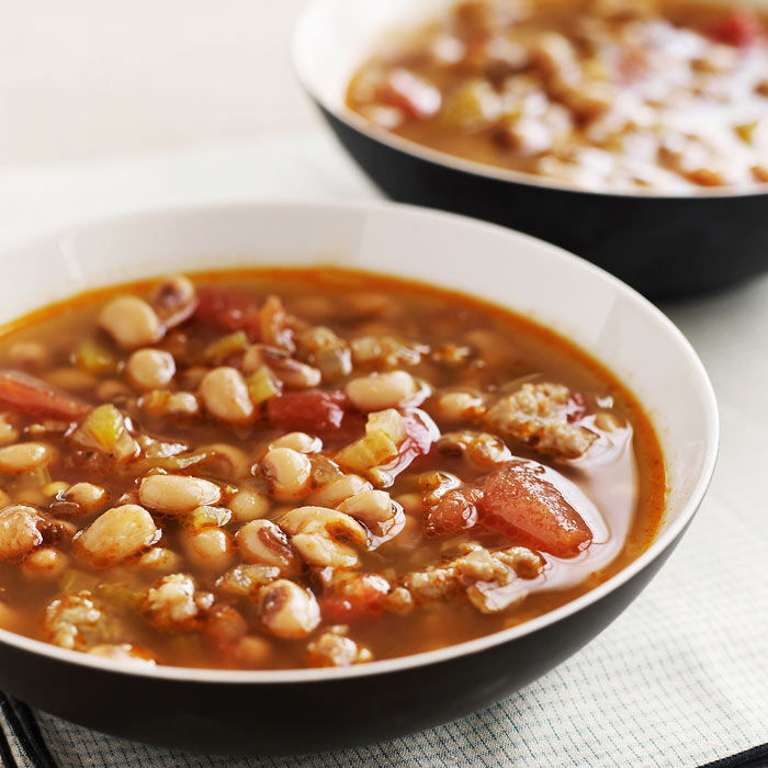 Black-Eyed Pea and Squash Stew with Mushrooms
