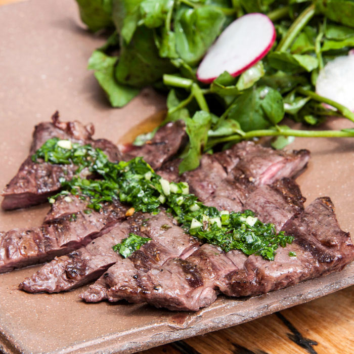 Grilled Beef with Chimichurri Sauce