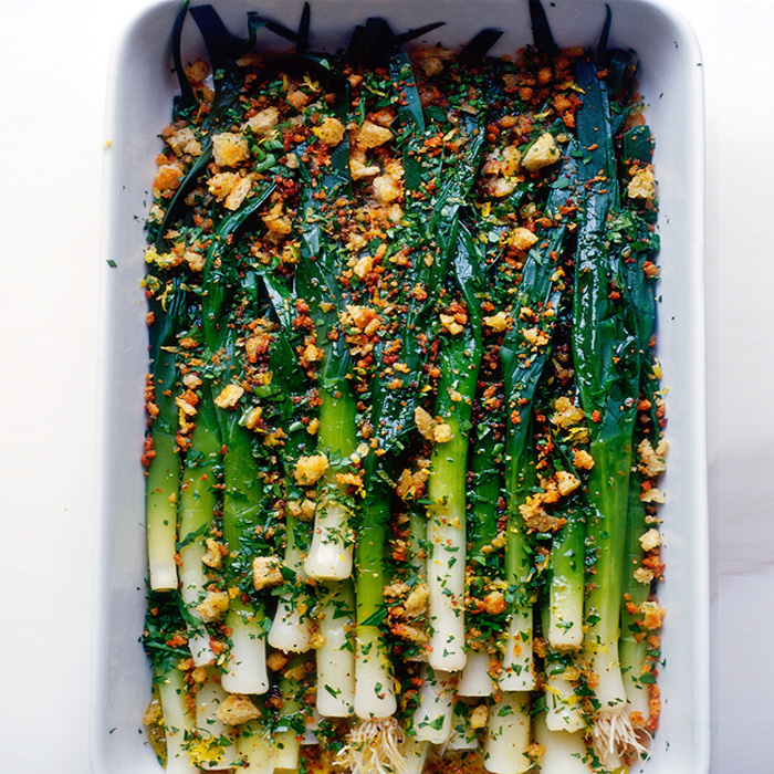 Braised Leeks in Orange-Fennel Dressing