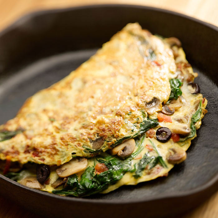 Veggie and Cream Cheese Omelet