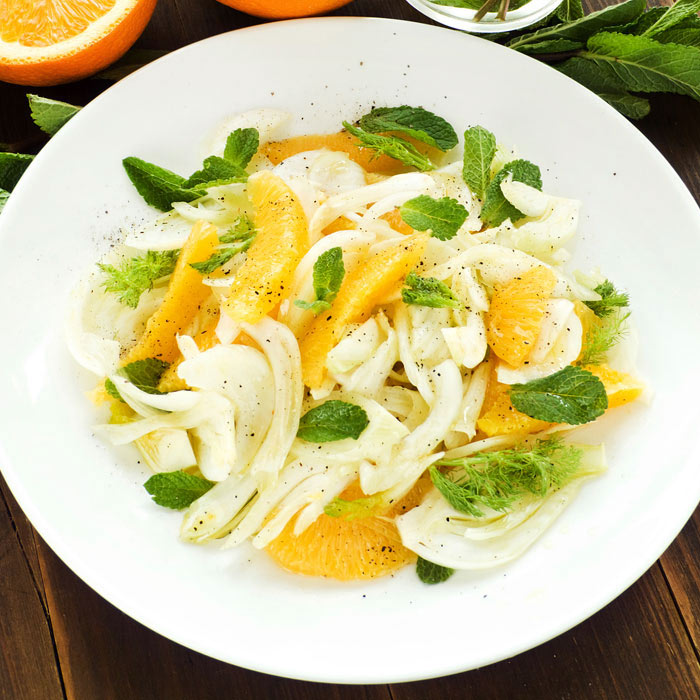 Josie Le Balch's Fennel Salad with Blood Oranges and Fuji Persimmons