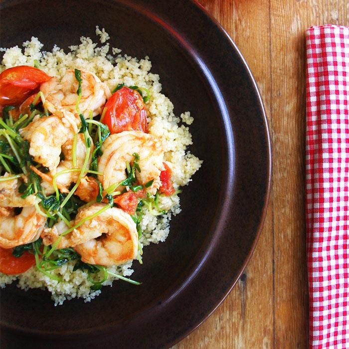 Gazpacho-Shrimp Salad
