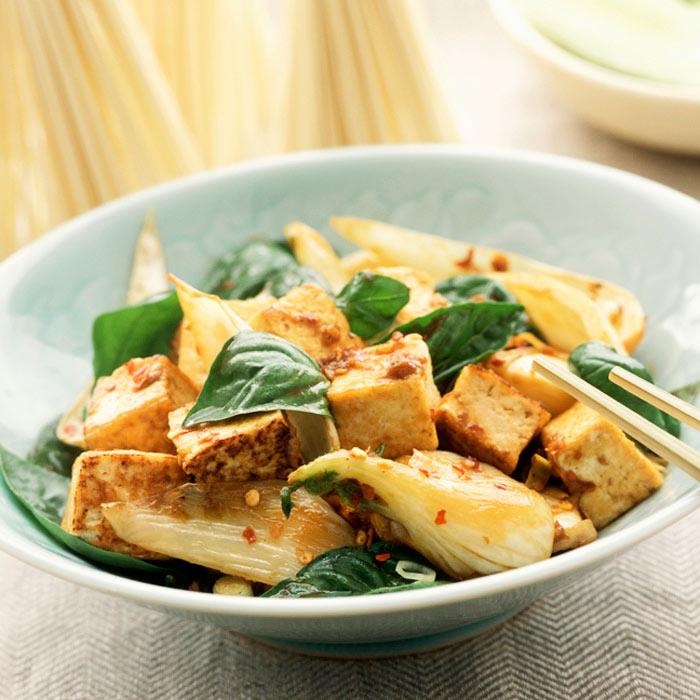 Stir-Fried Chili-Garlic Tofu with Vegetables