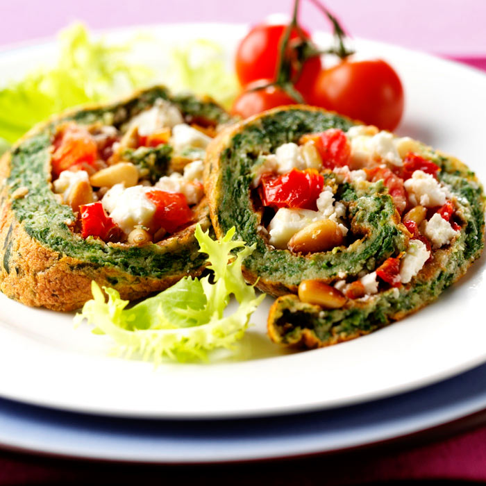Spinach and Tomato Stuffed Chicken Roulade