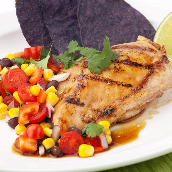 Chicken with Black Bean & Mango Salsa