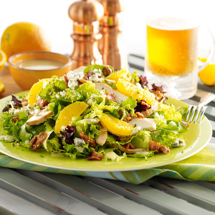 Moroccan Chicken and Arugula Salad with Olives and Figs