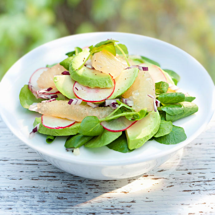 High-Fiber Grapefruit and Avocado Salad