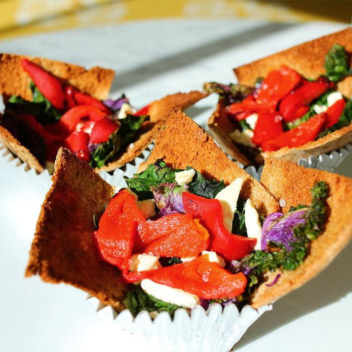 Kale Nacho Cupcakes