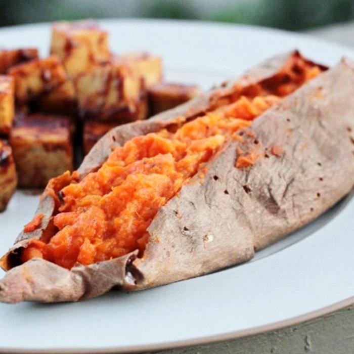 Maple Cinnamon Twice-Baked Sweet Potatoes