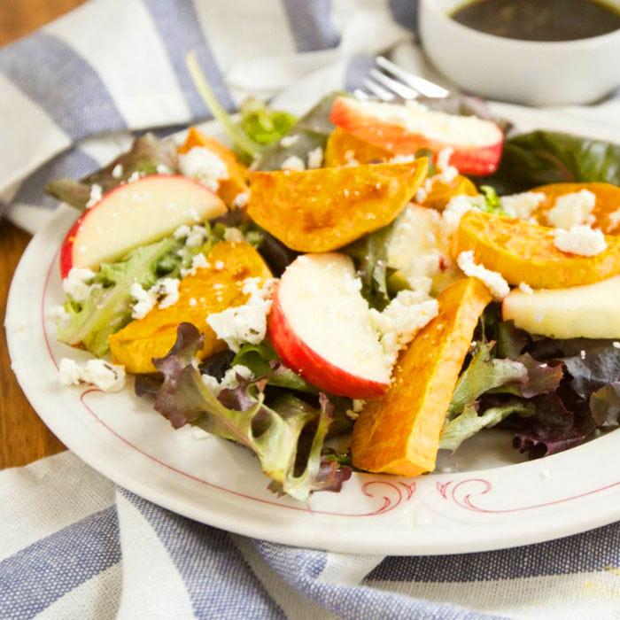 Roasted Sweet Potato and Apple Salad