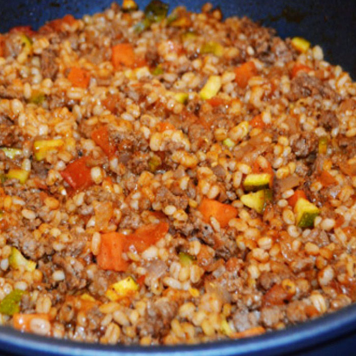 Beef and Barley Skillet