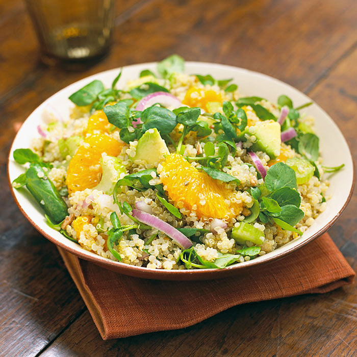 Creamy Avocado and Orange Quinoa Salad