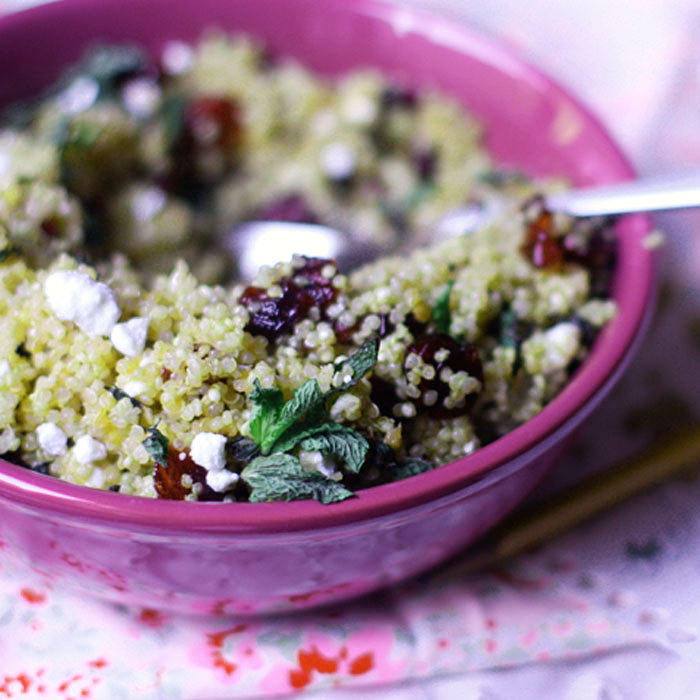 Mint and Cranberry Quinoa Salad