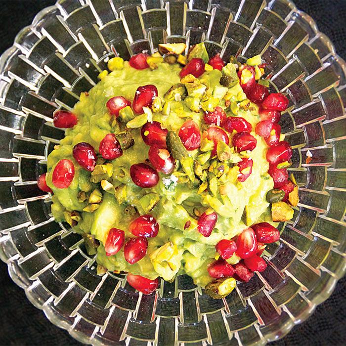 Pomegranate-Pistachio Guacamole