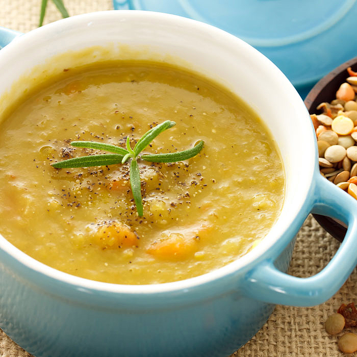 Vegetable Lentil Soup with a Boost