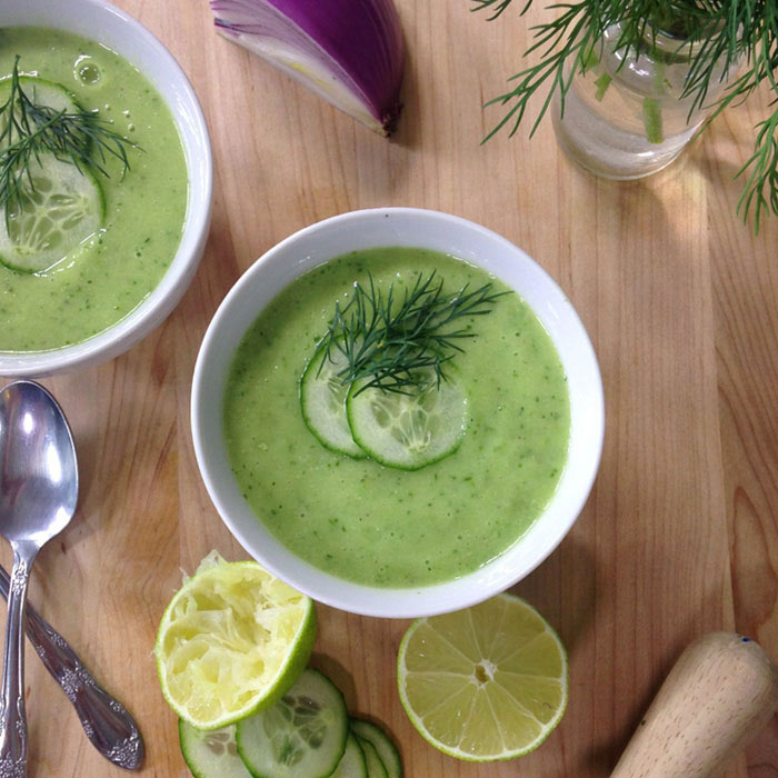Cleansing Cucumber Dill Soup