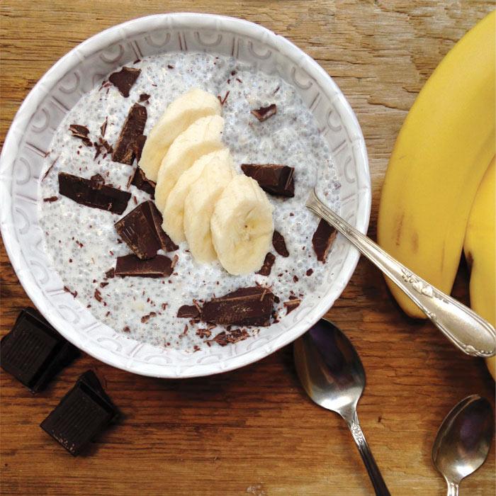 Dark Chocolate Chia Smoothie