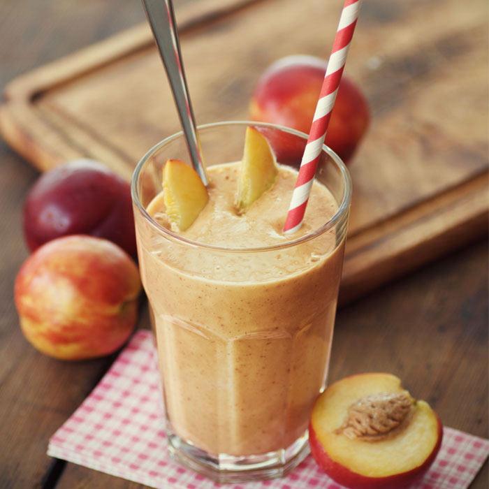 Refreshing Sweet Potato Peach Smoothie