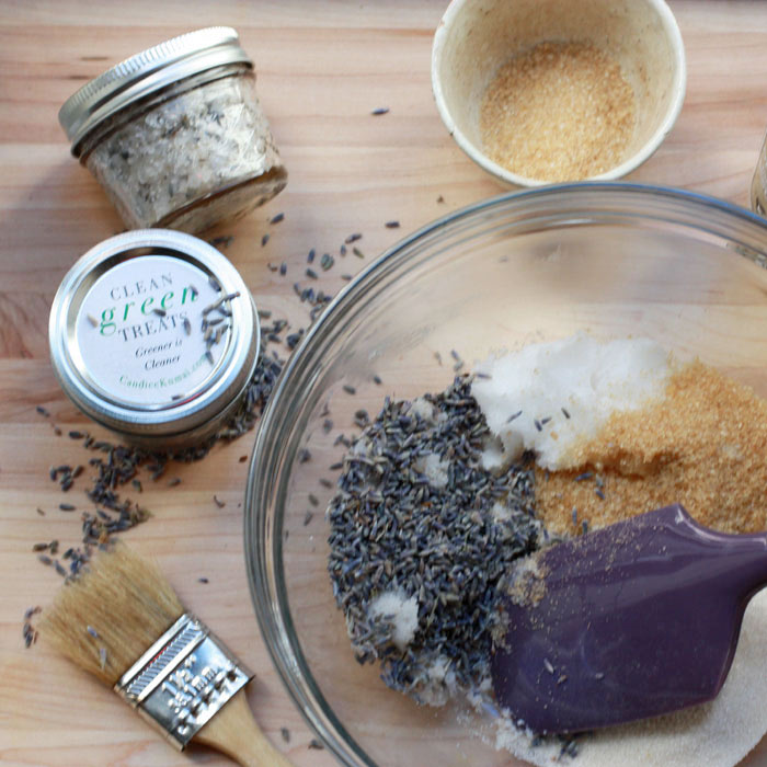 Homemade Lavender Coconut Body Scrub
