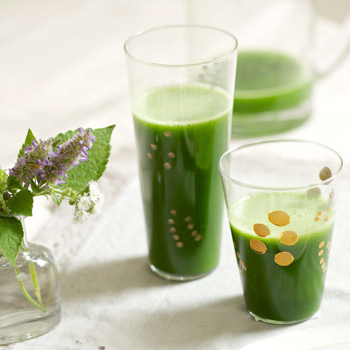 Cucumber-Mint-Coconut Cleansing Juice