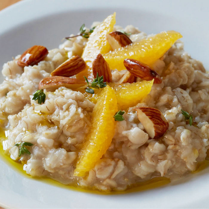 Oatmeal with Olive Oil and Oranges