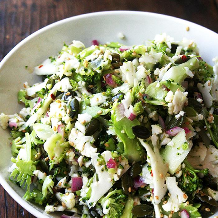 Cauliflower, Broccoli, and Pepita Salad