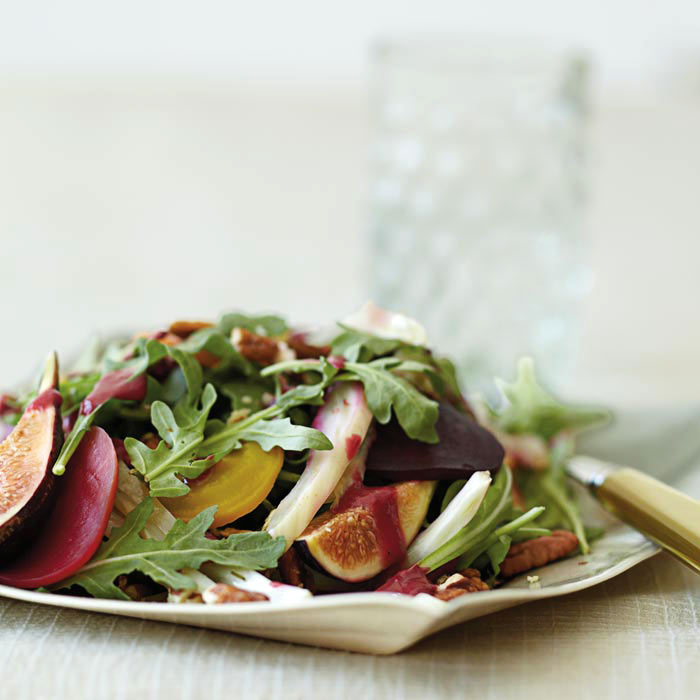 Beet, Fennel, and Fig Salad with Cranberry-Sage Dressing
