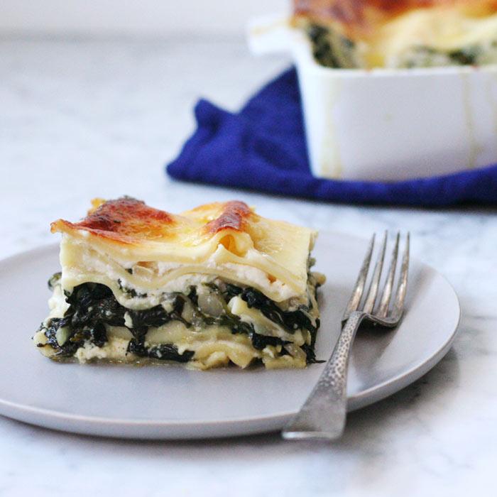 Kale, Spinach, and Arugula Lasagna