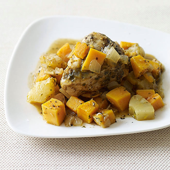 Jerk-Chicken with Sweet Potato and Pineapple