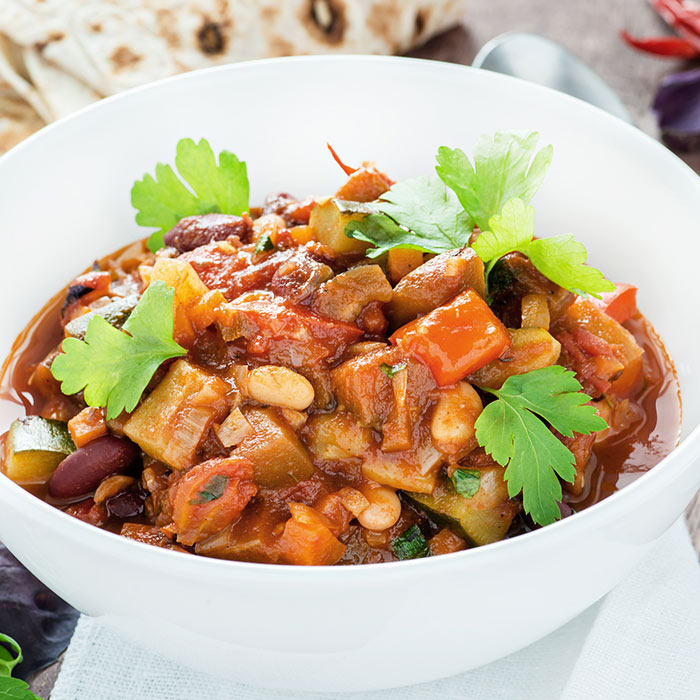 Spicy Slow Cooker Vegetarian Chili