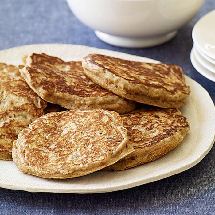 Cinnamon-Oat Whole Wheat Pancakes