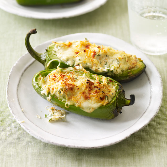 Grilled, Stuffed Jalapenos