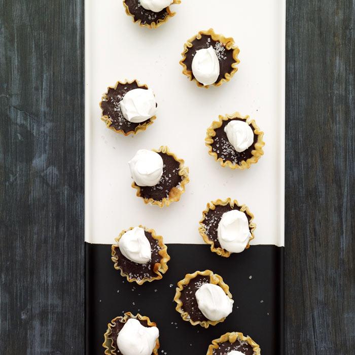 Dark Chocolate and Sea Salt Tartlets