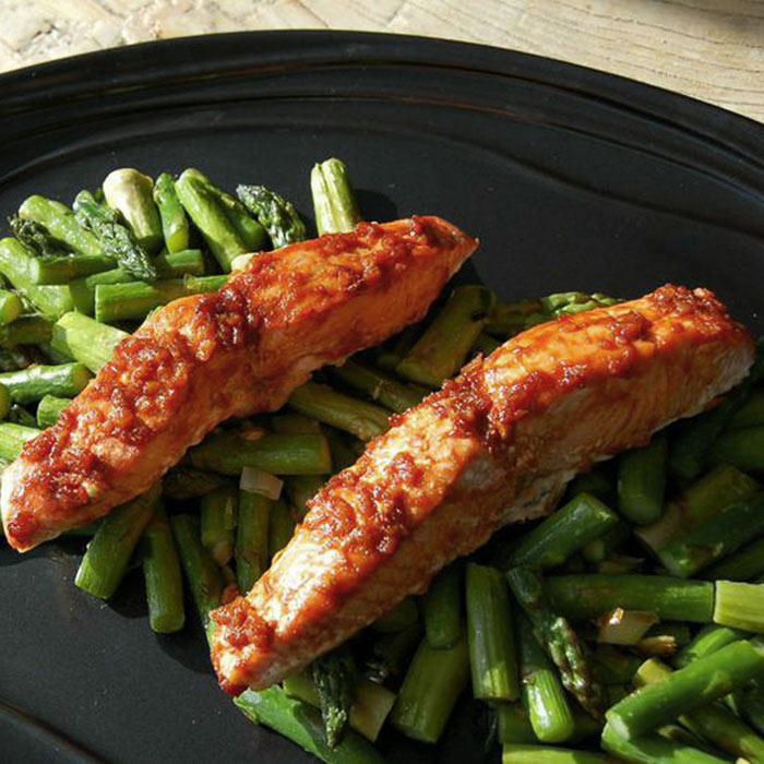 Chili Ginger Glazed Salmon