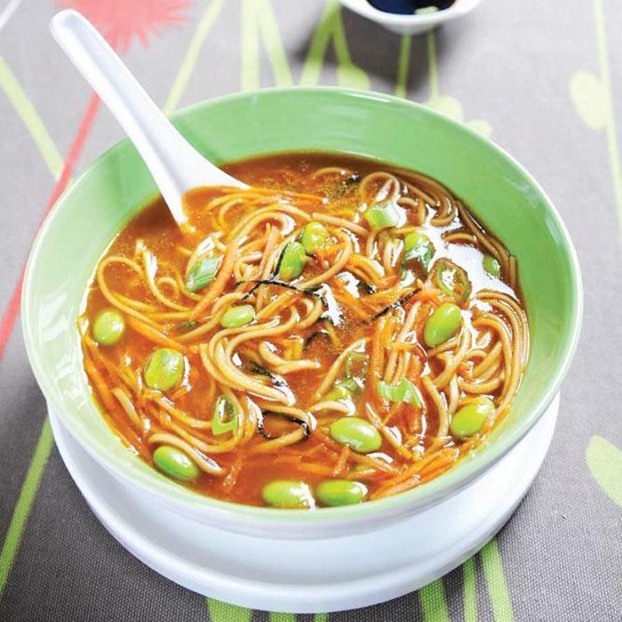 Buckwheat Noodle Bowl with Edamame & Ginger