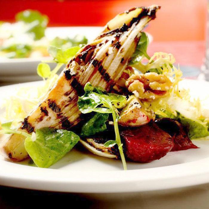 Grilled Belgian Endive Salad with Tarragon Vinaigrette
