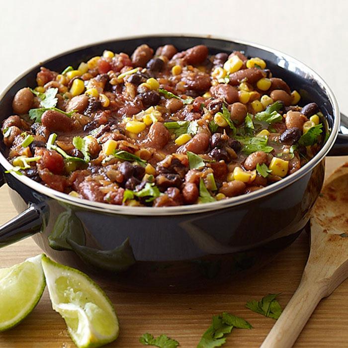 Slow Cooker Three-Bean Vegetarian Chili