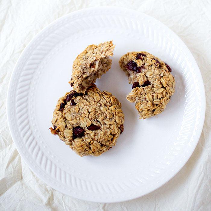 Coconut Cranberry Breakfast Cookies