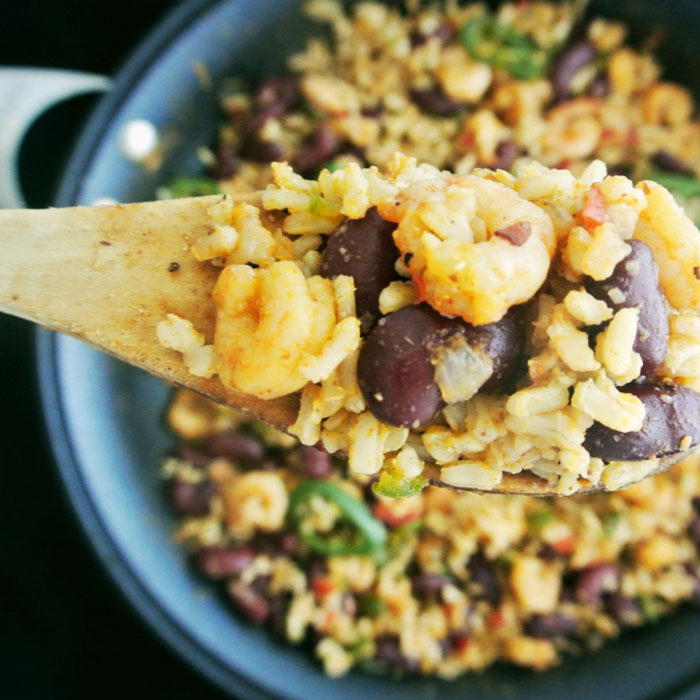 Southern-Style Cajun Shrimp and Dirty Rice