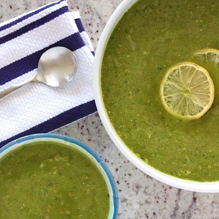 Lemony Spinach Split Pea Soup