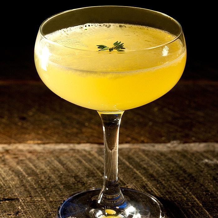 Thyme-Infused Avua Cachaca Juice