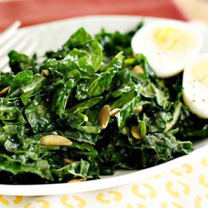 Protein-Packed Kale Salad with Egg