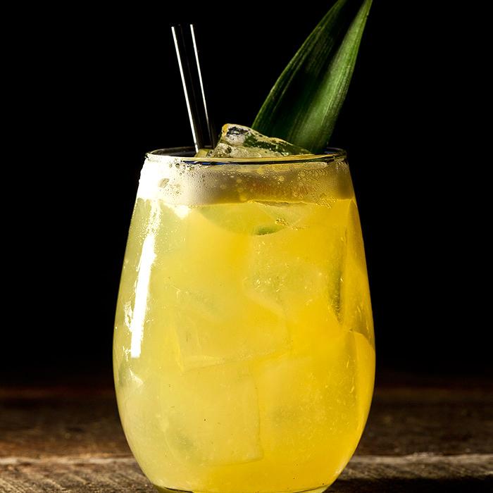 Pineapple Kale Basil Juice Cocktail