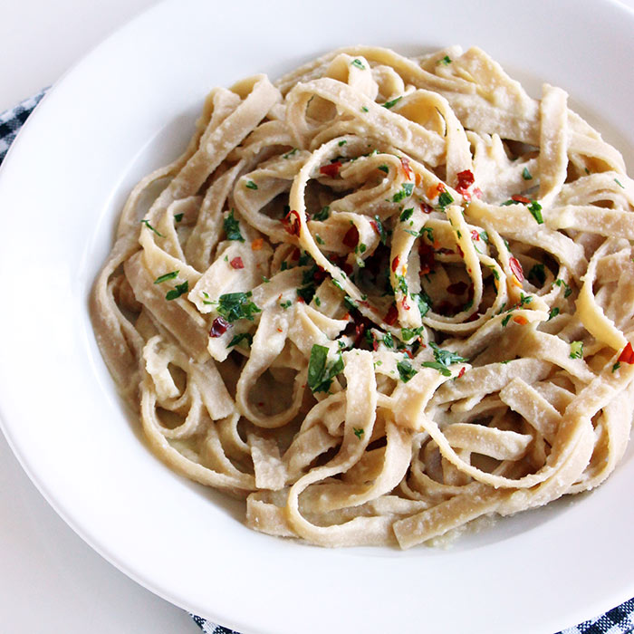 Cauliflower Fettucine Alfredo