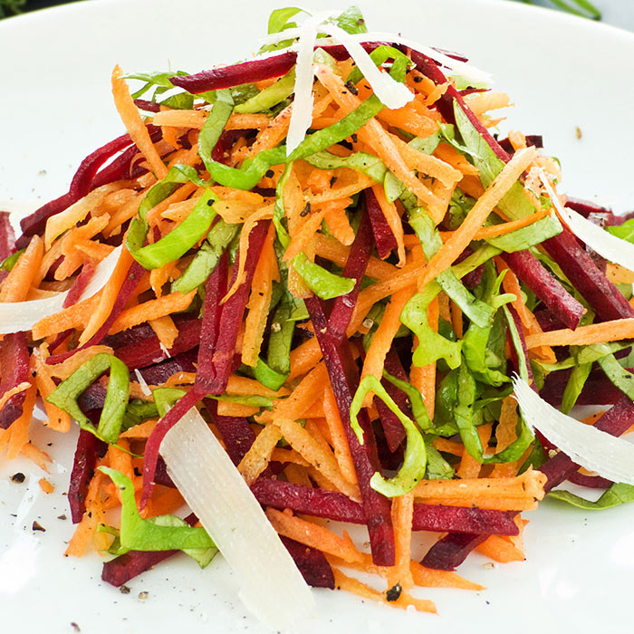 Raw Fennel, Beetroot, and Carrot Salad With Buckwheat