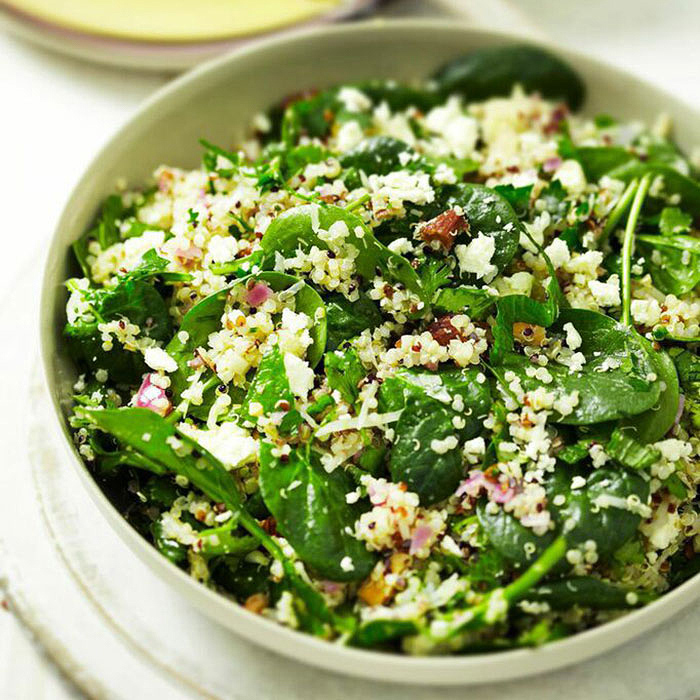 Quinoa Pilaf with Spinach, Feta, and Almonds Salad