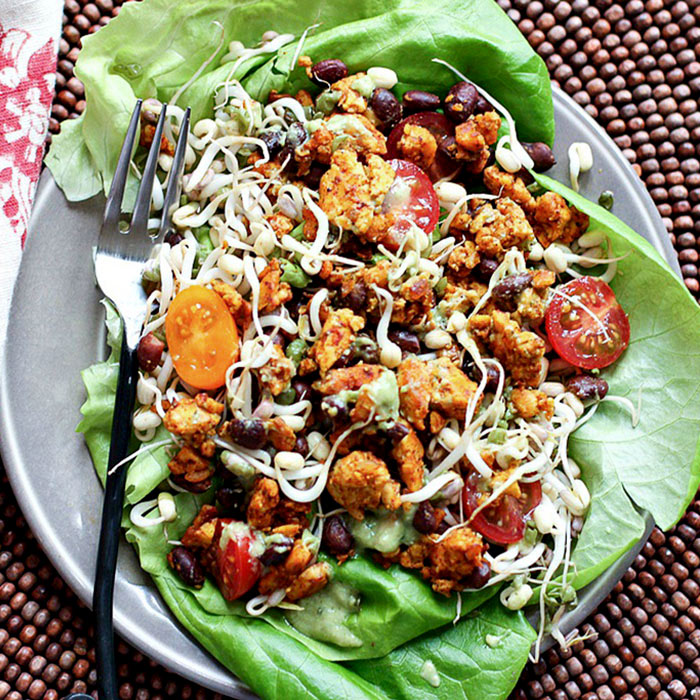 5-Spice Tempeh Salad with Avocado Ranch Dressing